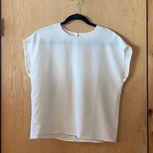 Vintage Laura Winston White Flowy Shirt